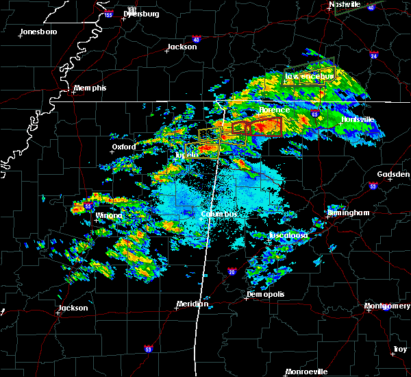 Radar Image for Severe Thunderstorms near Littleville, AL at 3/24/2020 6:20 PM CDT