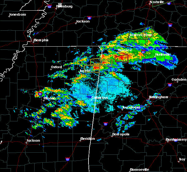 Radar Image for Severe Thunderstorms near Red Bay, AL at 3/24/2020 6:27 PM CDT