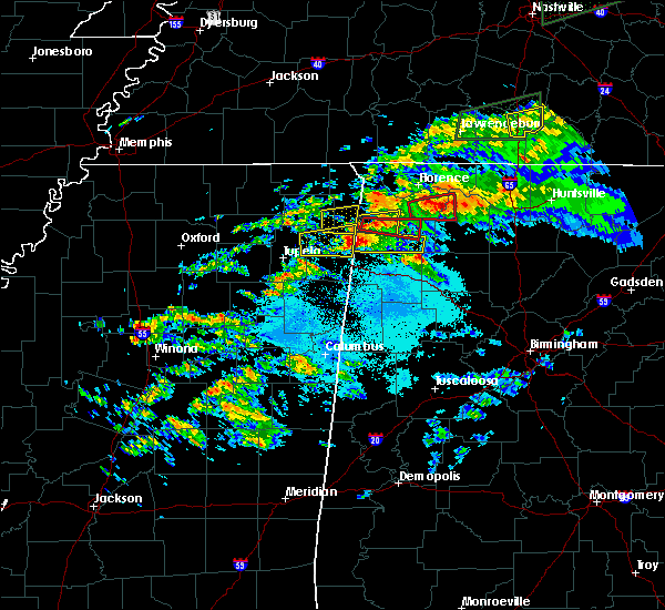 Radar Image for Severe Thunderstorms near Muscle Shoals, AL at 3/24/2020 6:32 PM CDT