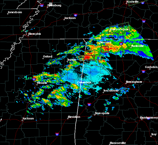 Radar Image for Severe Thunderstorms near Athens, AL at 3/24/2020 6:37 PM CDT