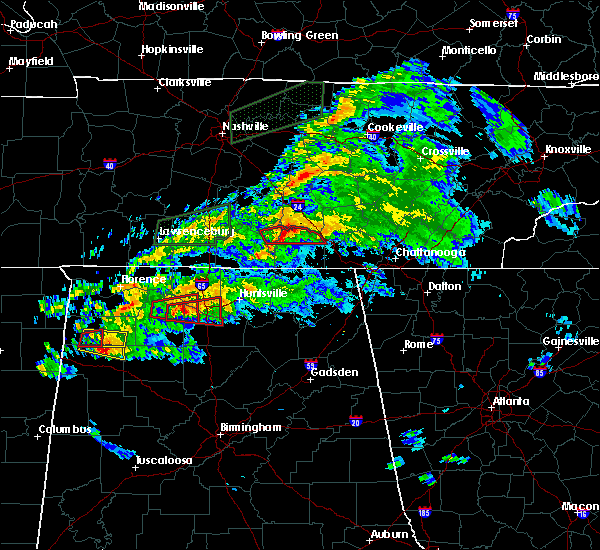 Radar Image for Severe Thunderstorms near Huntsville, AL at 3/24/2020 6:58 PM CDT
