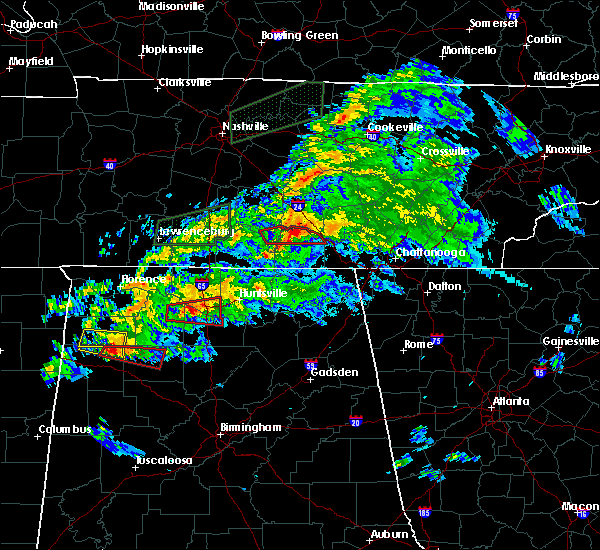 Radar Image for Severe Thunderstorms near Tullahoma, TN at 3/24/2020 7:05 PM CDT
