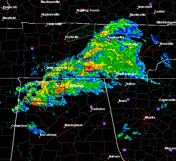 Radar Image for Severe Thunderstorms near Huntsville, AL at 3/24/2020 7:09 PM CDT