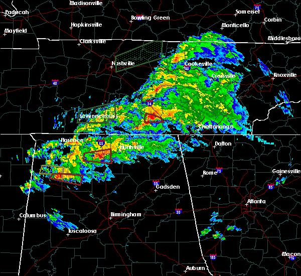 Radar Image for Severe Thunderstorms near Decherd, TN at 3/24/2020 7:11 PM CDT