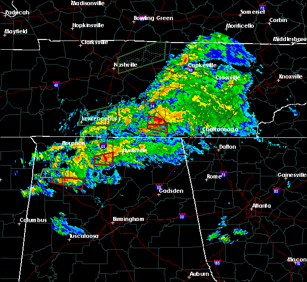 Radar Image for Severe Thunderstorms near Huntsville, AL at 3/24/2020 7:17 PM CDT
