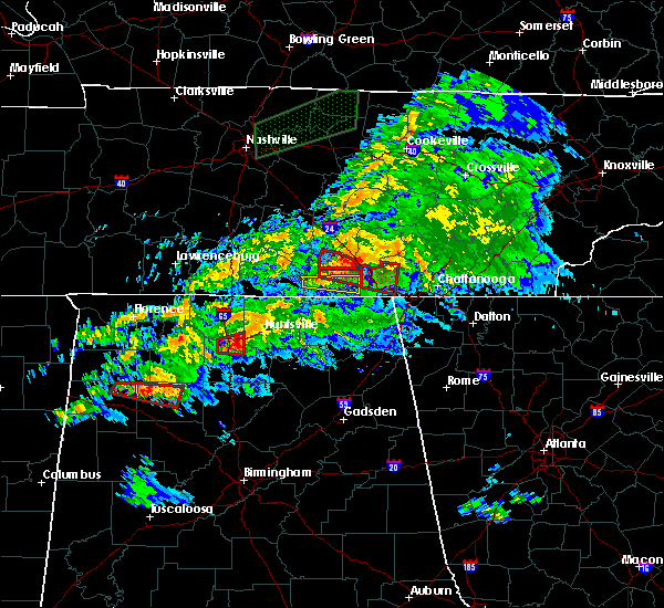 Radar Image for Severe Thunderstorms near New Hope, AL at 3/24/2020 7:22 PM CDT