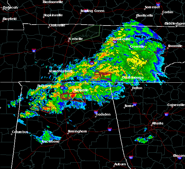 Radar Image for Severe Thunderstorms near Gurley, AL at 3/24/2020 7:31 PM CDT