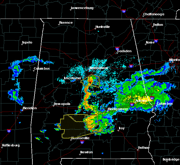 Radar Image for Severe Thunderstorms near Columbiana, AL at 6/24/2015 10:19 PM CDT