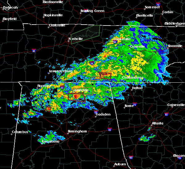 Radar Image for Severe Thunderstorms near New Hope, AL at 3/24/2020 7:40 PM CDT