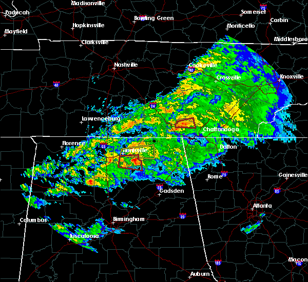 Radar Image for Severe Thunderstorms near New Hope, AL at 3/24/2020 7:50 PM CDT