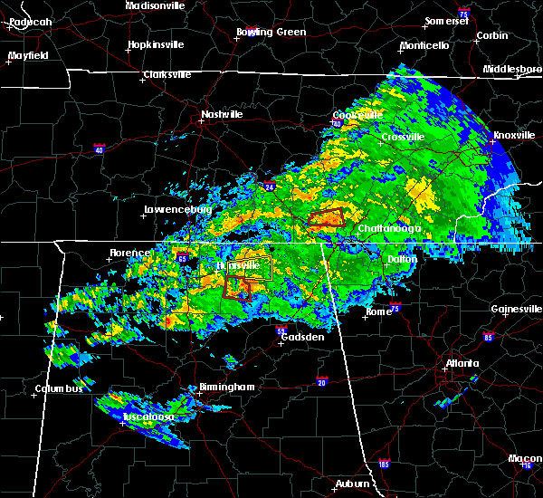 Radar Image for Severe Thunderstorms near Whitwell, TN at 3/24/2020 7:59 PM CDT