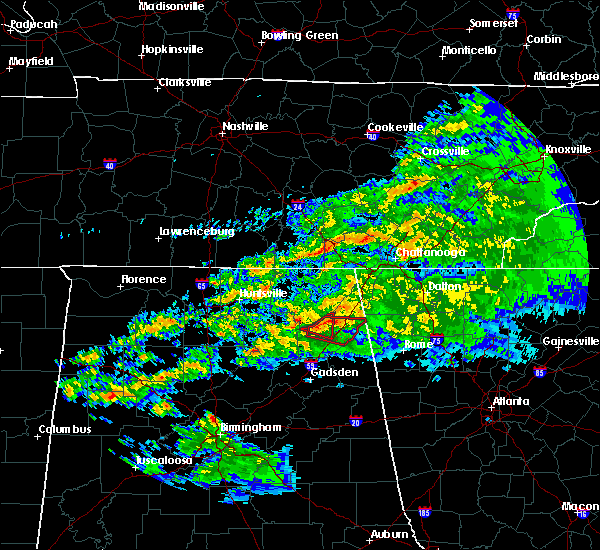 Radar Image for Severe Thunderstorms near Lakeview, AL at 3/24/2020 8:35 PM CDT