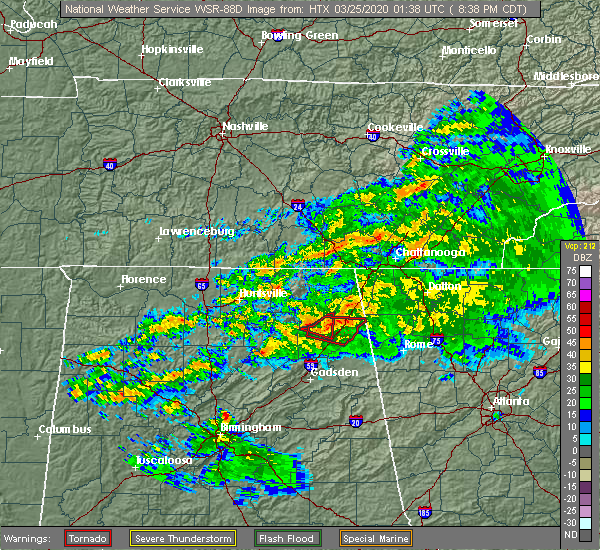 Radar Image for Severe Thunderstorms near Lakeview, AL at 3/24/2020 8:40 PM CDT