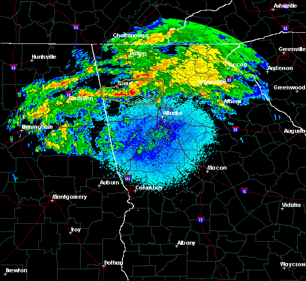 Radar Image for Severe Thunderstorms near Kennesaw, GA at 3/24/2020 11:10 PM EDT
