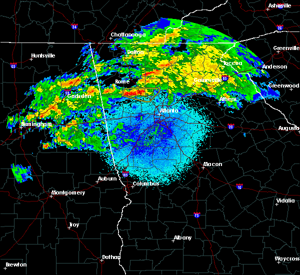 Radar Image for Severe Thunderstorms near Kennesaw, GA at 3/24/2020 11:25 PM EDT