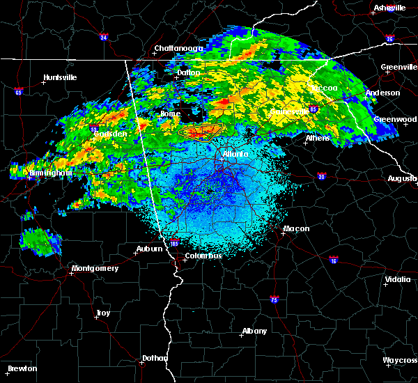 Radar Image for Severe Thunderstorms near Kennesaw, GA at 3/24/2020 11:43 PM EDT