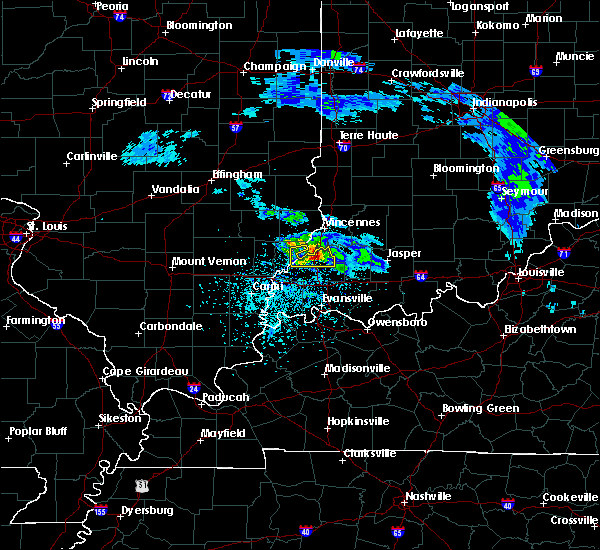 Radar Image for Severe Thunderstorms near Princeton, IN at 3/26/2020 1:24 PM CDT