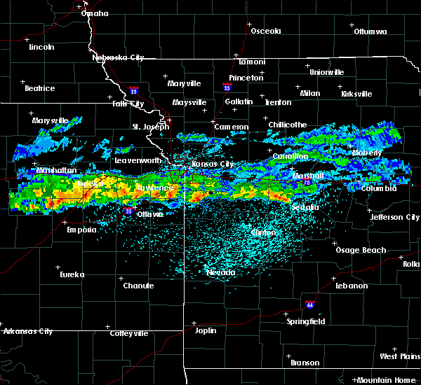 Radar Image for Severe Thunderstorms near Peculiar, MO at 3/26/2020 11:15 PM CDT