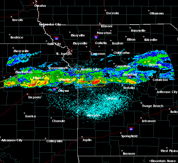 Radar Image for Severe Thunderstorms near Pleasant Hill, MO at 3/26/2020 11:31 PM CDT