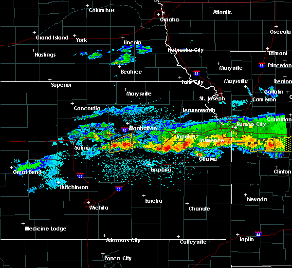 Radar Image for Severe Thunderstorms near Eskridge, KS at 3/26/2020 11:41 PM CDT