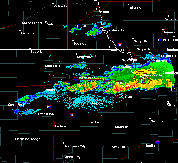 Radar Image for Severe Thunderstorms near Eskridge, KS at 3/27/2020 12:10 AM CDT