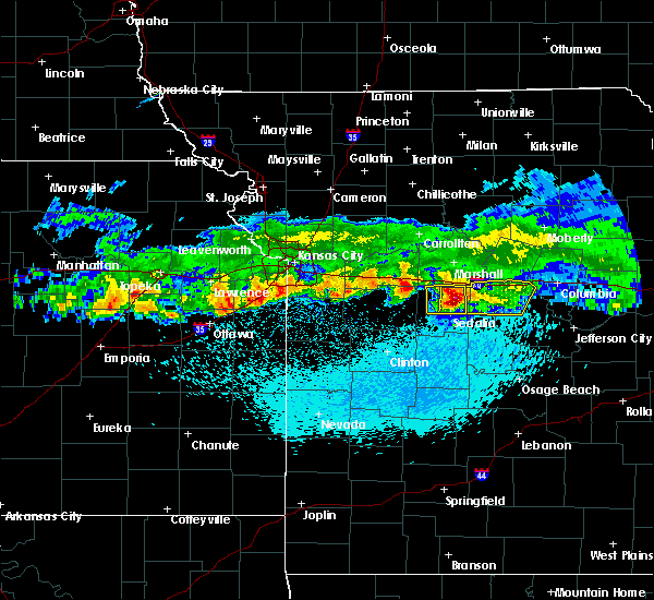 Radar Image for Severe Thunderstorms near Prairie Home, MO at 3/27/2020 12:24 AM CDT
