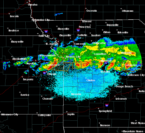 Radar Image for Severe Thunderstorms near Prairie Village, KS at 3/27/2020 1:20 AM CDT