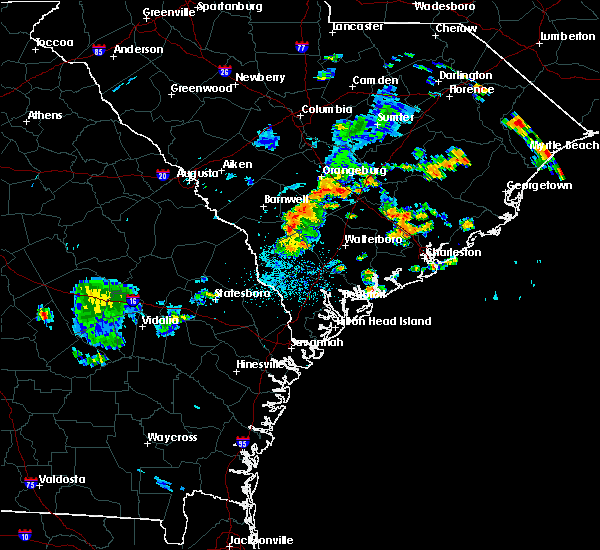 Radar Image for Severe Thunderstorms near Govan, SC at 6/24/2015 11:24 PM EDT