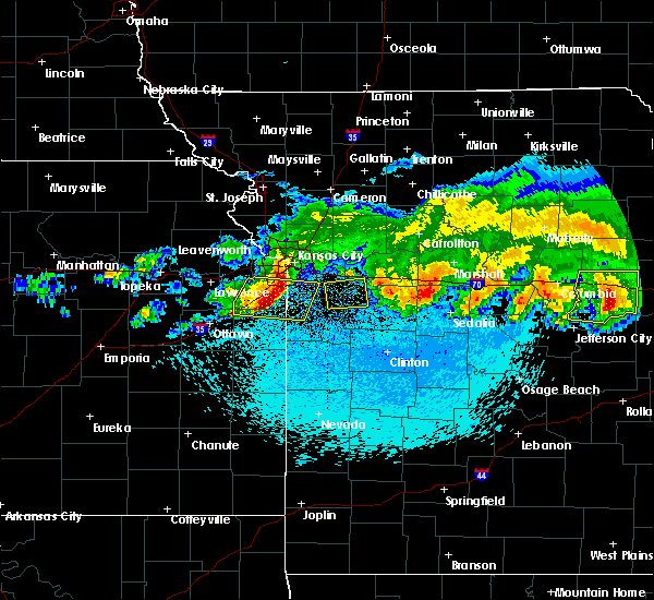 Radar Image for Severe Thunderstorms near Shawnee, KS at 3/27/2020 1:33 AM CDT