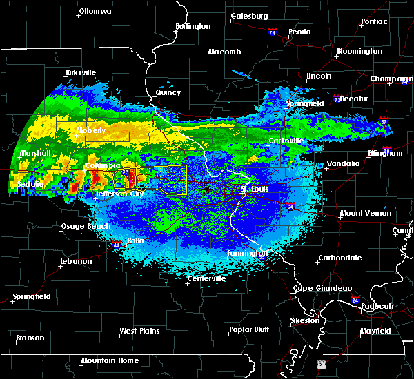 Radar Image for Severe Thunderstorms near Big Spring, MO at 3/27/2020 1:44 AM CDT