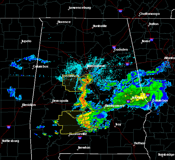 Radar Image for Severe Thunderstorms near Montevallo, AL at 6/24/2015 10:28 PM CDT