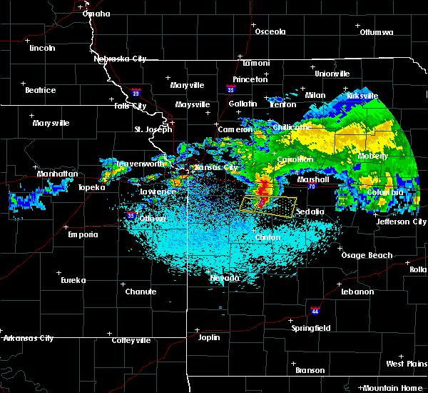 Radar Image for Severe Thunderstorms near La Monte, MO at 3/27/2020 2:34 AM CDT