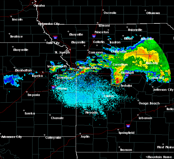 Radar Image for Severe Thunderstorms near La Monte, MO at 3/27/2020 2:50 AM CDT