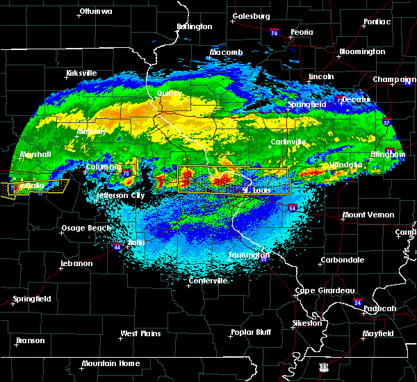 Radar Image for Severe Thunderstorms near Olivette, MO at 3/27/2020 2:54 AM CDT
