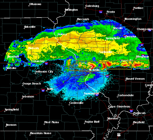 Radar Image for Severe Thunderstorms near Mitchell, IL at 3/27/2020 3:39 AM CDT