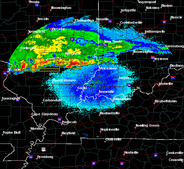 Radar Image for Severe Thunderstorms near Olney, IL at 3/27/2020 3:55 AM CDT