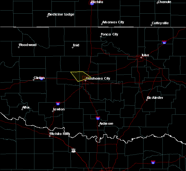 Radar Image for Severe Thunderstorms near Luther, OK at 3/27/2020 1:27 PM CDT