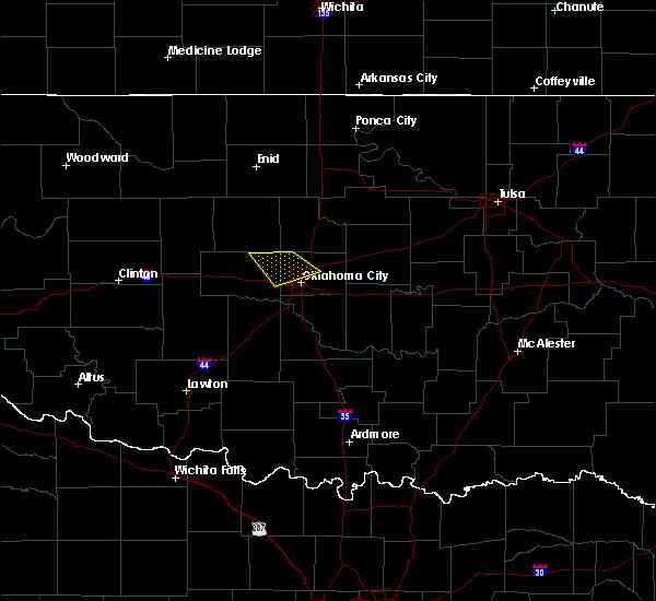 Radar Image for Severe Thunderstorms near Edmond, OK at 3/27/2020 1:27 PM CDT