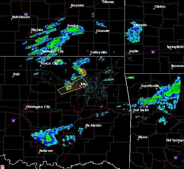 Radar Image for Severe Thunderstorms near Oakhurst, OK at 3/27/2020 3:01 PM CDT