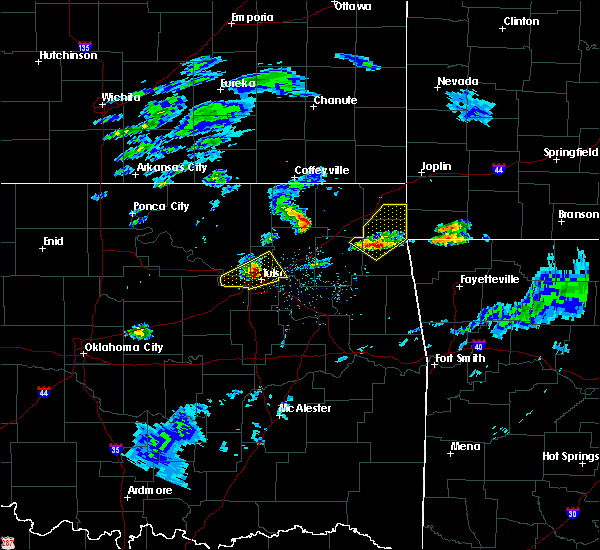 Radar Image for Severe Thunderstorms near Bernice, OK at 3/27/2020 3:14 PM CDT