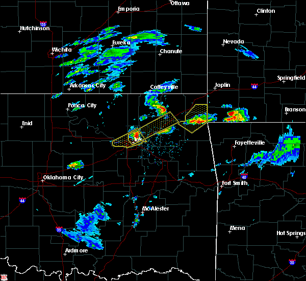 Radar Image for Severe Thunderstorms near Bernice, OK at 3/27/2020 3:23 PM CDT