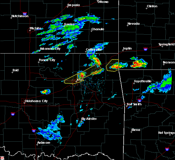 Radar Image for Severe Thunderstorms near Oakhurst, OK at 3/27/2020 3:29 PM CDT