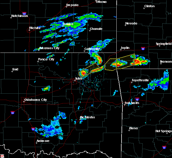 Radar Image for Severe Thunderstorms near Foyil, OK at 3/27/2020 3:32 PM CDT
