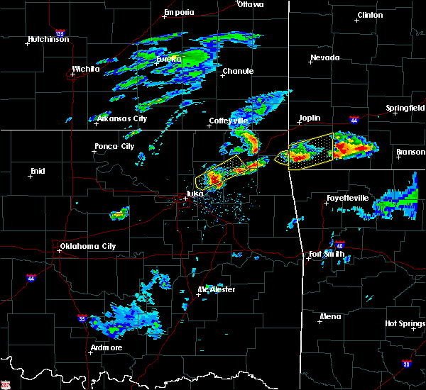 Radar Image for Severe Thunderstorms near Bernice, OK at 3/27/2020 3:41 PM CDT