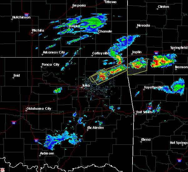 Radar Image for Severe Thunderstorms near Bernice, OK at 3/27/2020 3:49 PM CDT