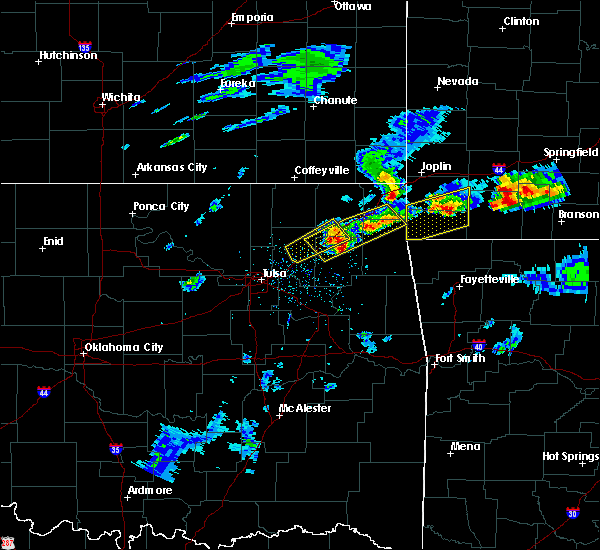 Radar Image for Severe Thunderstorms near Bernice, OK at 3/27/2020 3:57 PM CDT
