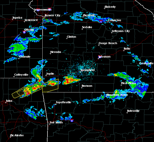 Radar Image for Severe Thunderstorms near Stella, MO at 3/27/2020 4:01 PM CDT