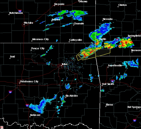 Radar Image for Severe Thunderstorms near Bernice, OK at 3/27/2020 4:06 PM CDT