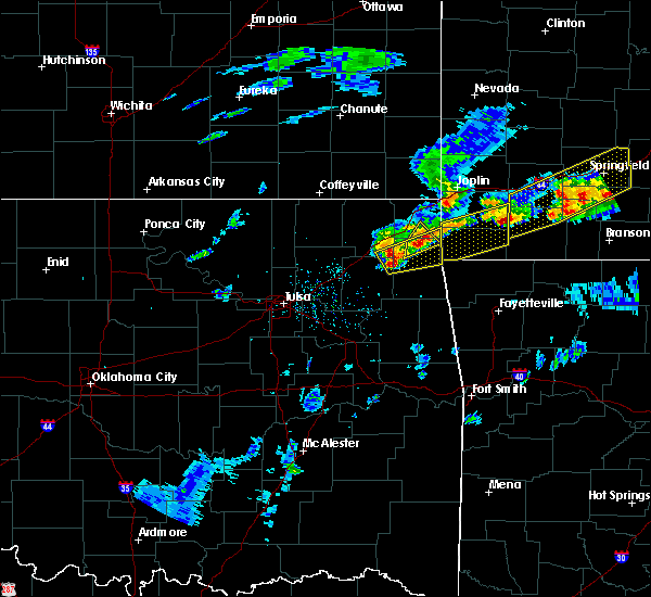 Radar Image for Severe Thunderstorms near Dodge, OK at 3/27/2020 4:08 PM CDT