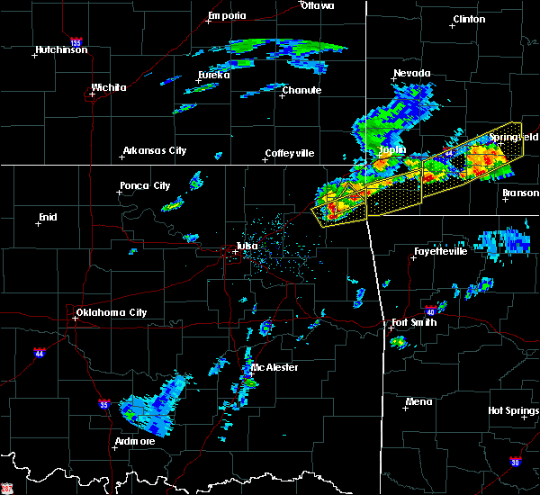 Radar Image for Severe Thunderstorms near Dodge, OK at 3/27/2020 4:11 PM CDT